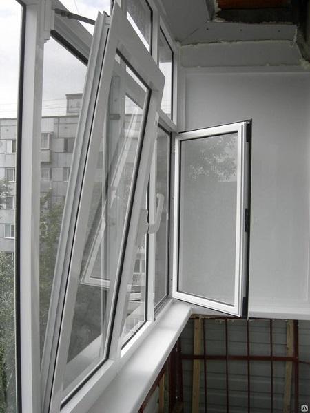 фото: откидные распашные алюминиевые окна