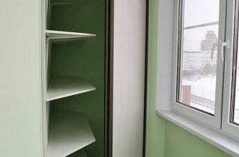 фото: угловой шкаф на балкон