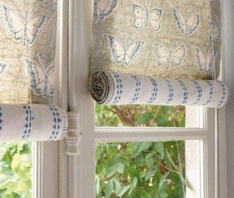 фото: рулонные шторы своими руками