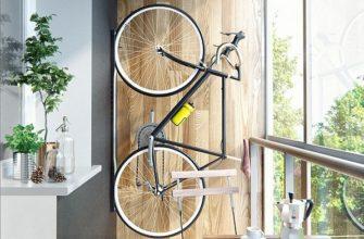 фото: хранение велосипеда на балконе