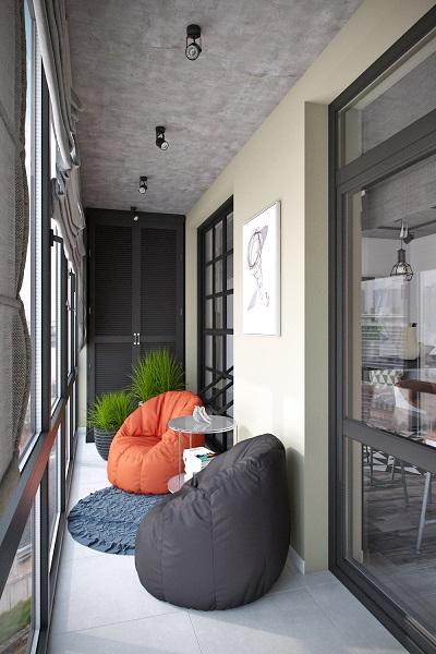 фото: большие окна на балкон