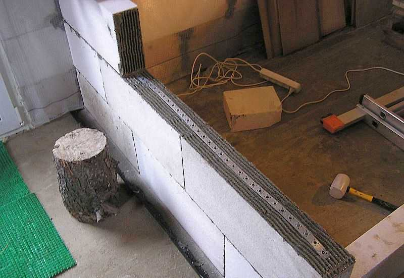 стена из газобетонных блоков в квартире