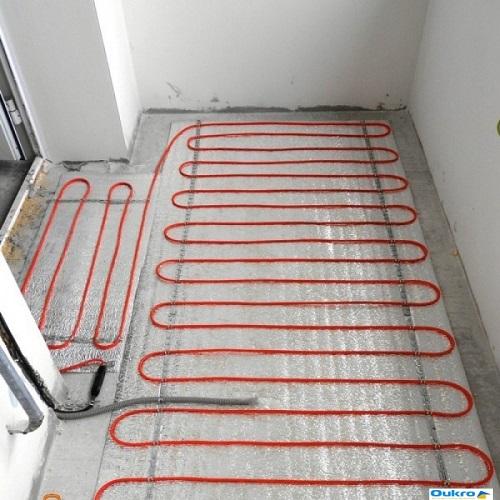 Электрический теплый пол кабельной системы