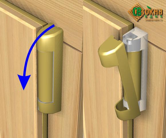 снятие заглушки с петли пластиковой двери