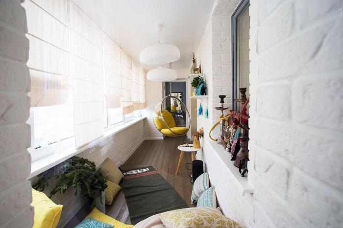 кальянная на балконе