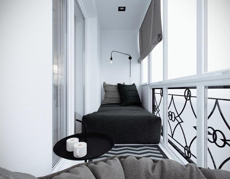 кровать на балкон дизайн