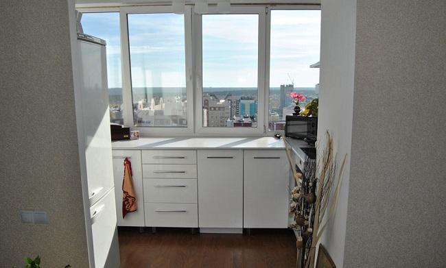 кухонные шкафы на балкон