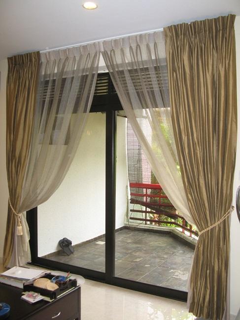 шторы на выход на балкон