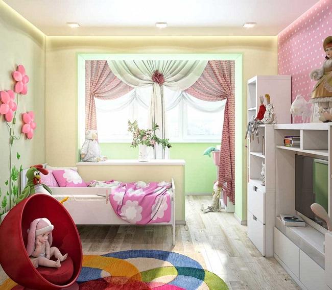 выход на балкон детской комнаты