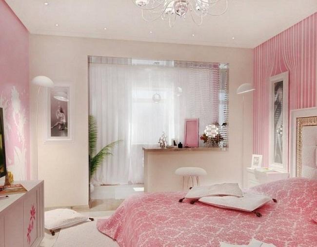 Арка с зеркальным эффектом в спальню