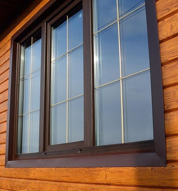ламинированные окна с декоративной раскладкой