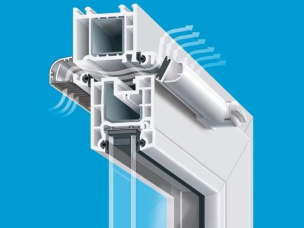 Приточный клапан на пластиковое окно Aereco