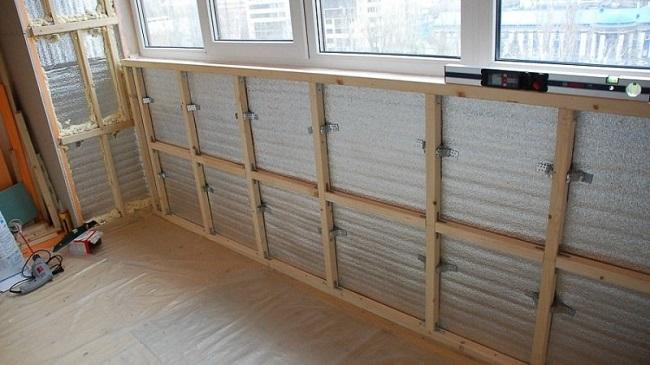 обрешетка на балкон под осб или гипсокартон