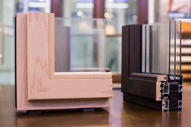 Алюмо-деревянные окна в разрезе