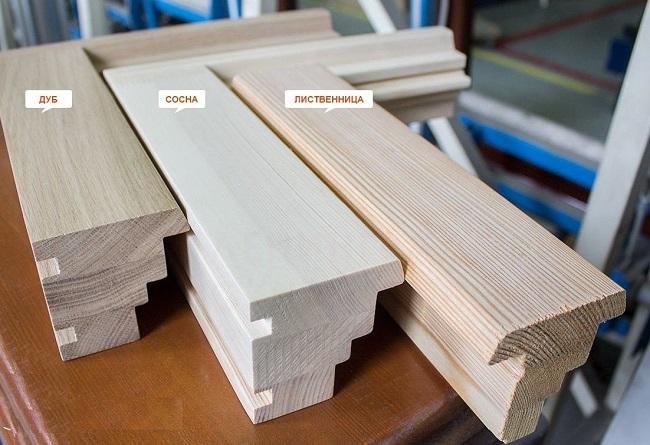 заготовки деревянных окон: дуб, лиственница, сосна