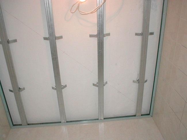 каркас под пвх панели на потолок