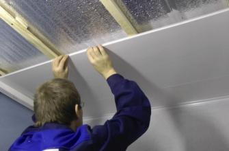 Монтаж пластиковых панелей к потолку своими руками