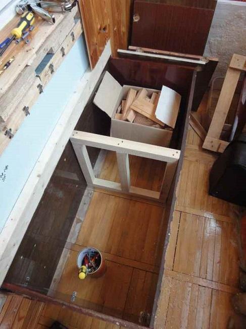 сборка ящика скамейки