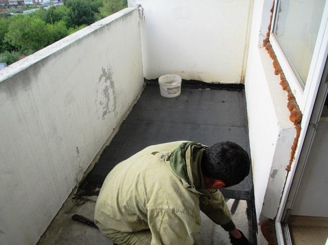 гидроизоляция балкона битумной мастикой