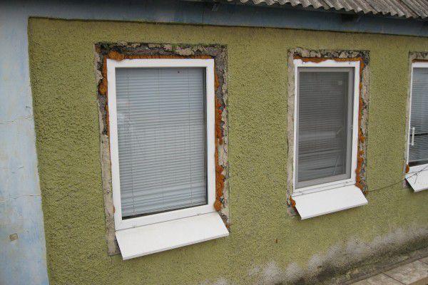 окна без откосов в частном доме