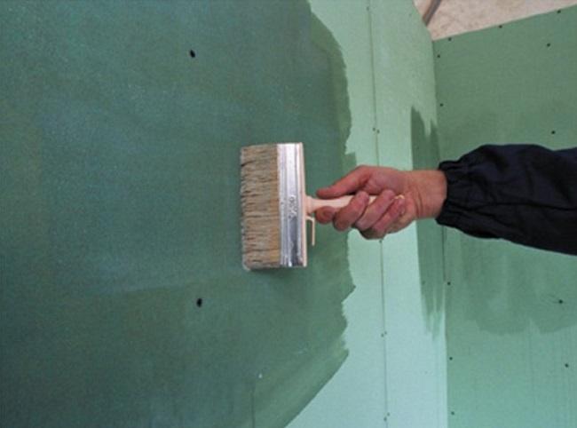 обработка гипсокартона грунтовкой