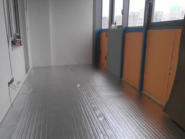 лавсановая подложка под теплый пол на балкон