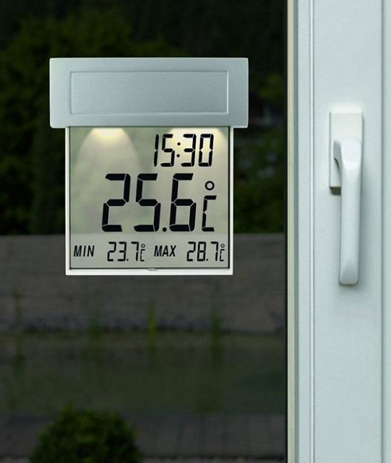 электронный цифровой термометр на солнечной батарее