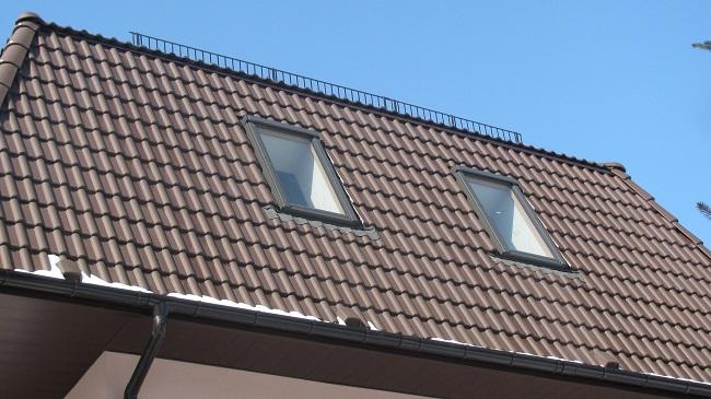 мансардные окна со скатом крыши