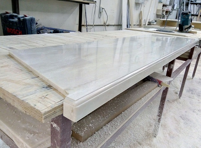 обработка мраморного подоконника