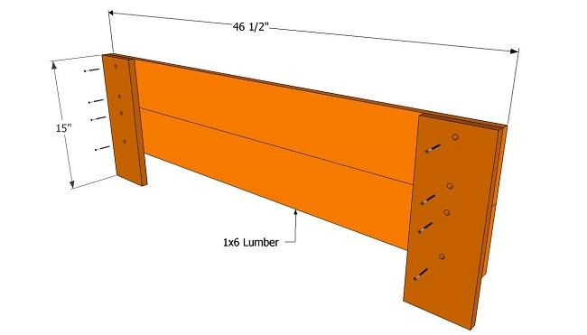 передняя часть скамейки