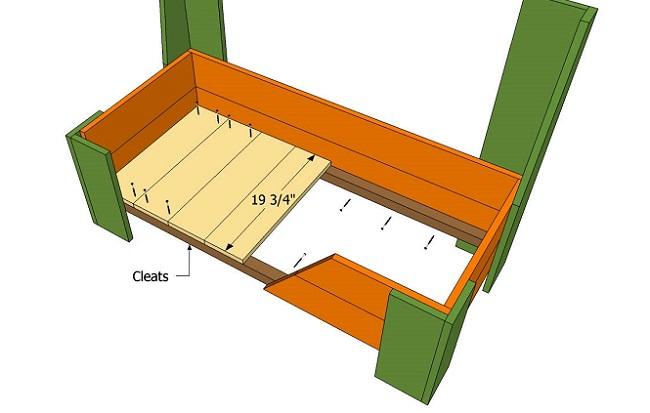 нижняя часть скамейки