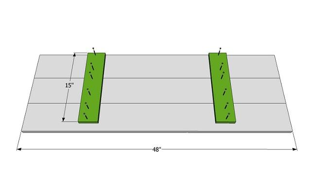 верхняя крышка садовой скамейки