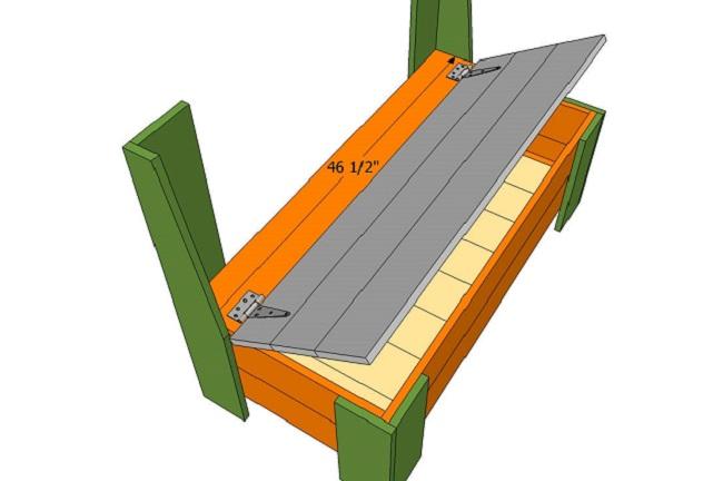садовая скамейка с прибитой крышкой схема