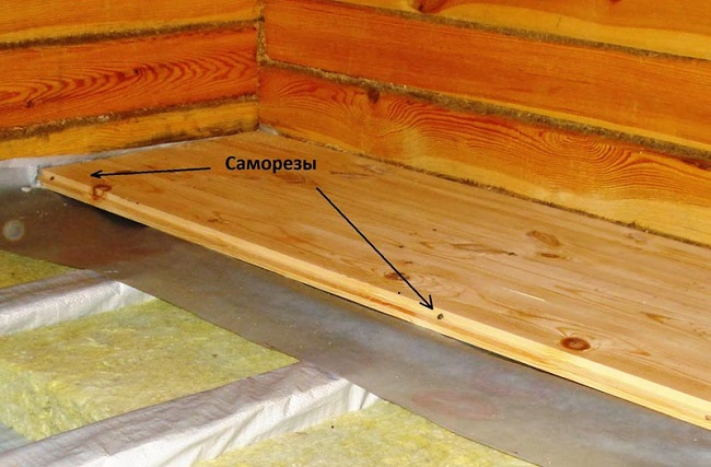 монтаж половых досок на пол балкона
