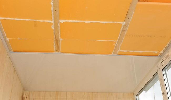 утепление потолка балкона пеноплексом