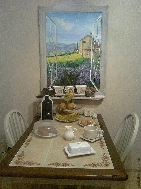 фальш окно в интерьере кухни