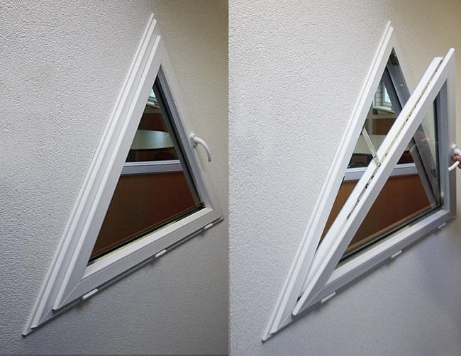 треугольные окна форточка