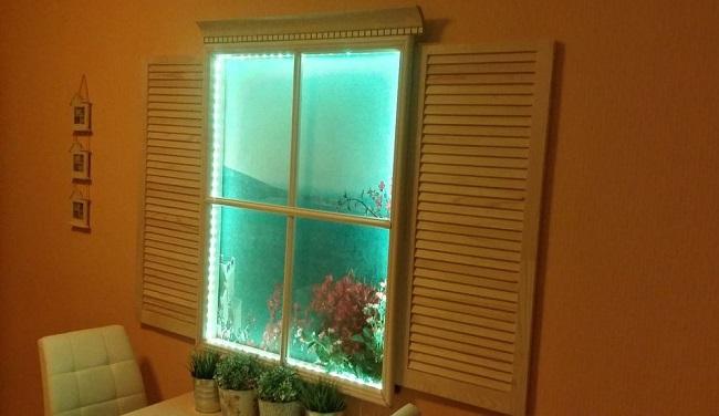 фальш окно с диодной подсветкой