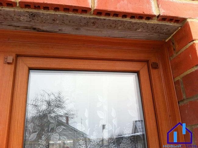 установка деревянных нащельников на окно