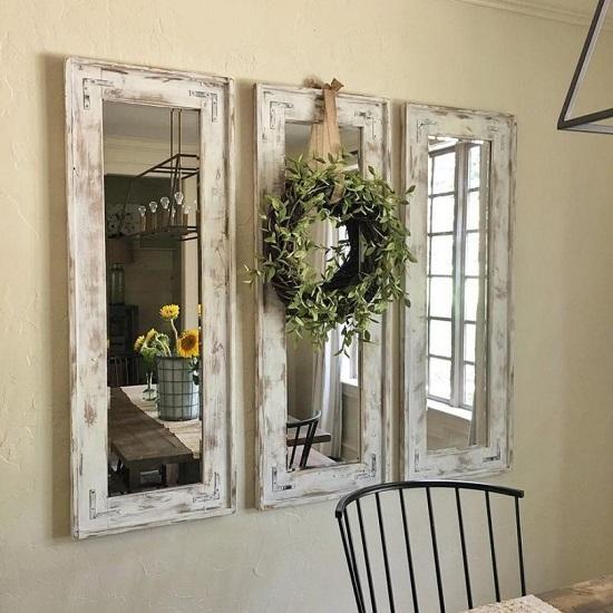 декоративное зеркало из старых окон