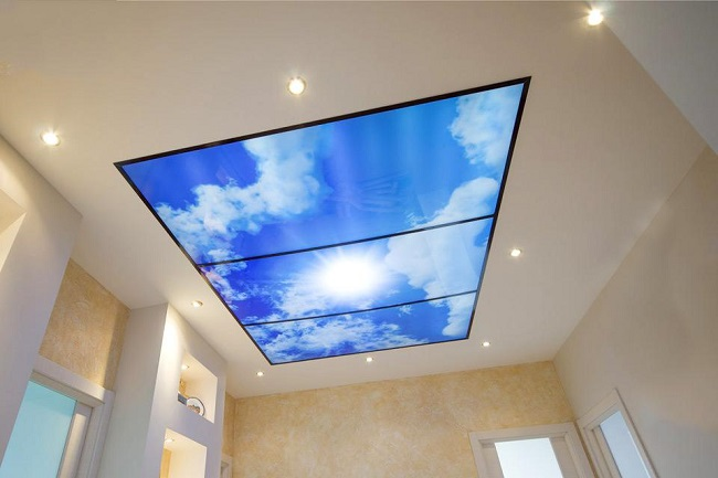 имитация неба на натяжном потолке