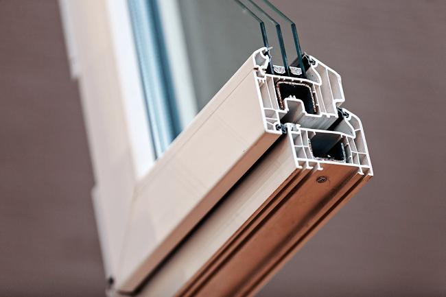 металлопластиковое окно в разрезе