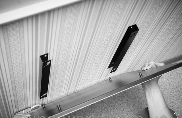 монтаж керамической панели на кронштейны