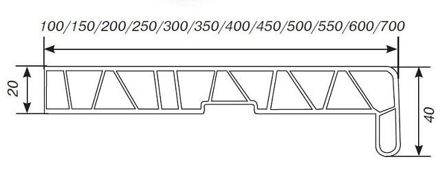 размеры пвх подоконников