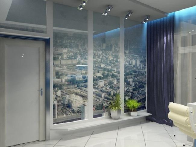 панорамные фальш окна