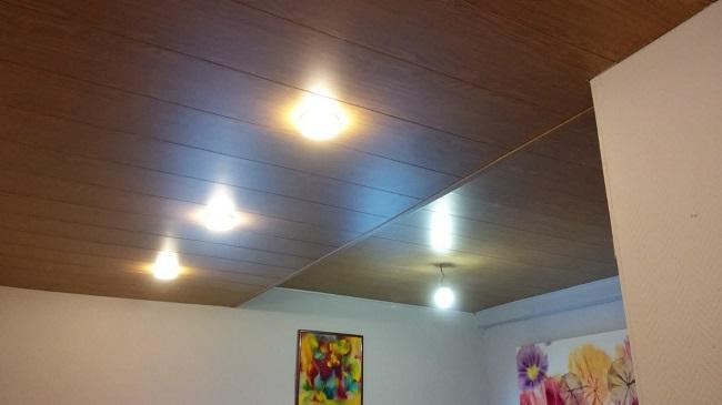 применение мдф панелей в отделке потолка