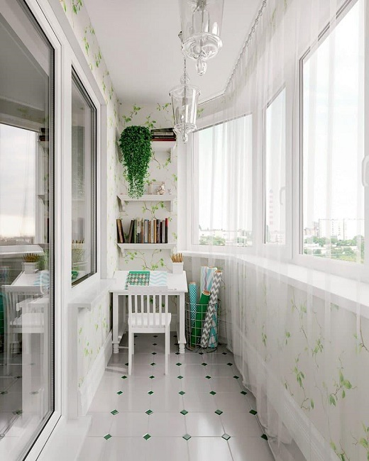 балкон в цветочном стиле прованс