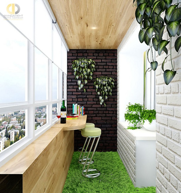 дизайн интерьера балкона в 2019