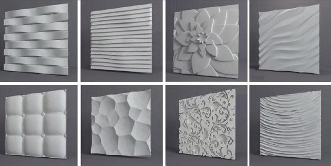 гипсовые 3d панели для потолка
