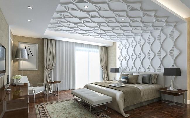 3 d панели в интерьере спальни